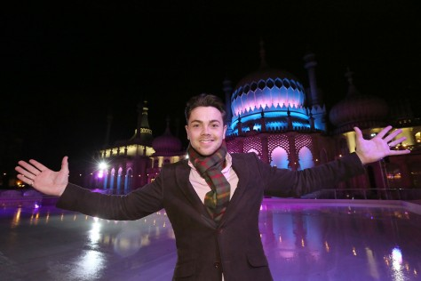 Opening night for the Ice Rink at the Pavilion, Brighton - Ray Quinn