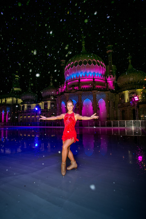 Picture by www.vervate.com/Skye Brackpool 07973677017  20151105 VIP Launch of Brighton's Royal Pavilion Ice Rink winter season 2015.  Pictured : Dancer Cheryl Cathcart.