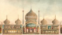 Cross-section of the Royal Pavilion from the 1826 Nash Views. © Royal Pavilion & Museums, Brighton & Hove